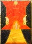 """ Apotheosis "" Acrylic paint on canvas - Ακρυλικά χρώματα σε καμβά  70 x 100 cm."
