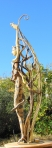 """ Aranyani "" Driftwood, wooden figure, metal - Αλίκτυπα ξύλα, ξύλινη φιγούρα, μέταλλο   115 x 20 cm."
