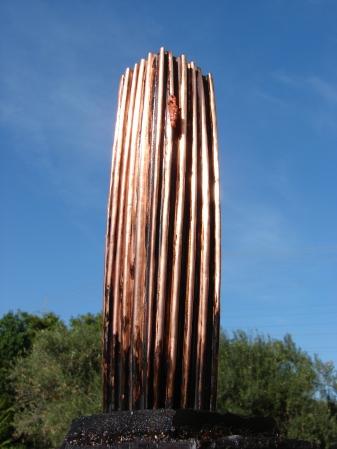 """The Falling Man "" Copper, clay, plaster - Χαλκός, πηλός, γύψος 17 x 24 x 47 cm."