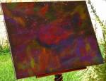 """ Apocalypto – Harmonia Macrocosmica "" Acrylic paint & stardust on canvas - Ακρυλικά χρώματα & αστρόσκονη σε καμβά  80 x 60 cm."
