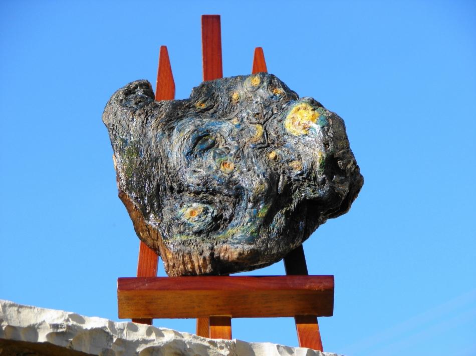 """ Ode to Vincent Van Gogh ""  Driftwood - Αλίκτυπο ξύλο  16 x 20 cm."