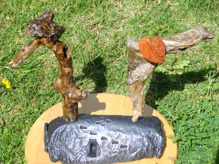 """""""Ανώλεθρον – Věčný """" Driftwood – Αλίκτυπα ξύλα 30 x 42 cm"""