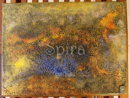 Fómhar ag teacht Acrylic paint on canvas 30 x 40 cm.